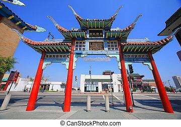 angeles, estados unidos de américa, chinatown, los, puerta, ...
