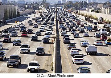 angeles, los, 405, autopista, traffic--the