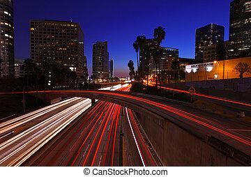 angeles, los, autoroute, nuit