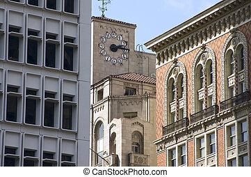 Angeles,  Los, historiske, Arkitektur