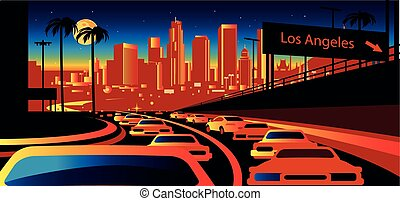 angeles, los, horizon, californie