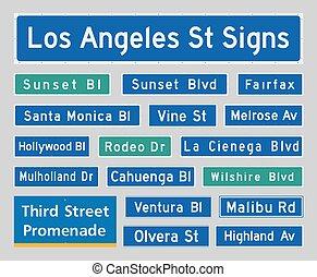 angeles, los, placas con los nombres de las calles