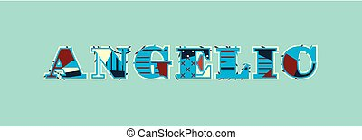 Angelic Concept Word Art Illustration - The word ANGELIC...