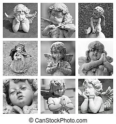 angelic figurines collage