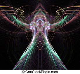 Angelic Flowing Abstract - Abstract Background - Pastel,...