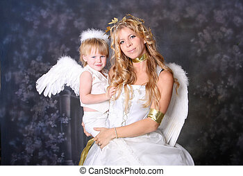 Angelic Mother and Son