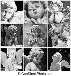 angelic sculptures collage