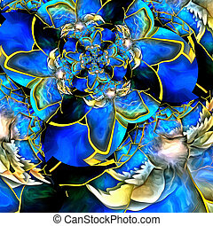 Angelic Wings Abstraction. Fractal Composition