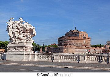 angelo, ローマ, sant, イタリア, 城