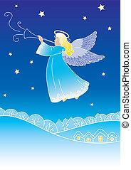 angelo, cartolina auguri