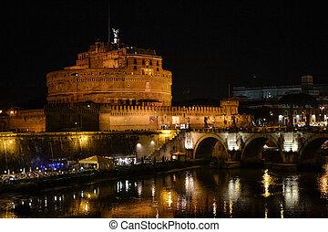 angelo, castello, s., notte