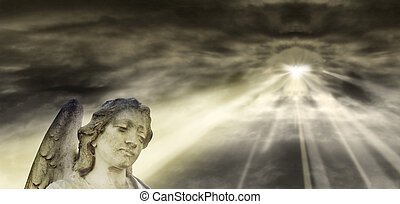 angelo, e, cielo drammatico