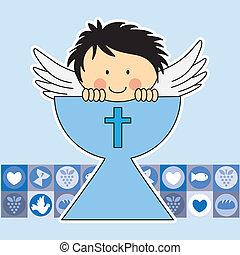 angelo, in, il, santo, grail., primo, comm