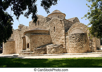 Angeloktisti Church. Angeloktisti means 'Built by the Angel'. This 11th century Byzantine church was built on a destroyed Early Christian basilica, the apse of which survives together with one of the finest pieces of Byzantine art - a 6th century mosaic of the Virgin Mary and Child between two ...