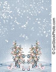 Angels and Christmas Tree