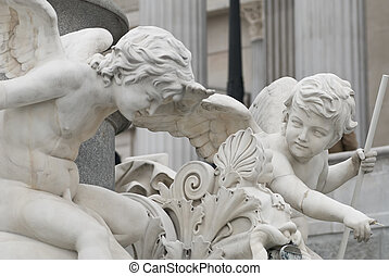 angels communicating - the famous sculptures around the ...