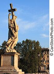 Saint Angel bridge in Rome