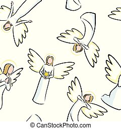 Angels Seamless Pattern