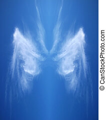 Angel's Wing - High altitude cloud in the shape of an angel'...