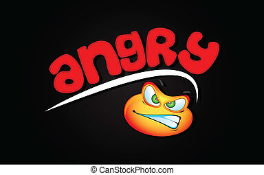 Anger Background - illustration of angry expression of lip...