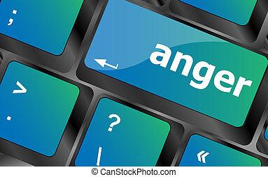 anger Button on Modern Computer Keyboard key