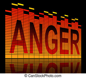 Anger concept. - Illustration depicting graphic equalizer...