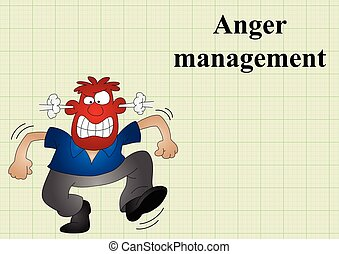 Anger management on graph paper background with copy space...