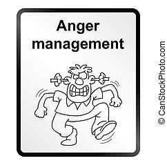 Anger Management Information Sign - Monochrome anger...