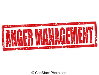 Anger management stamp - Anger management grunge rubber...