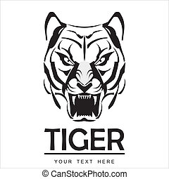 Anger Tiger in Black and White