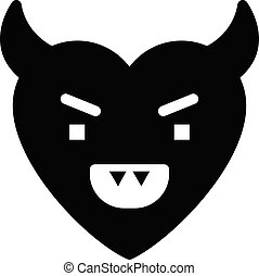 anger  vector glyph flat icon