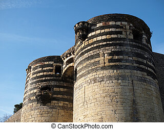 Angers castle, France.