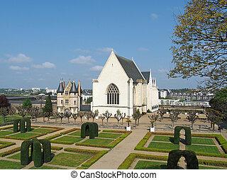 Angers castle garden, april 2013