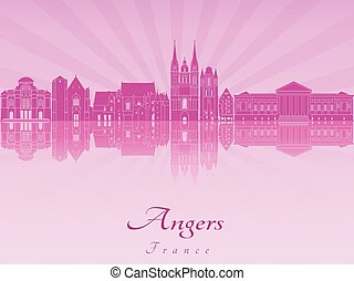 Angers skyline in purple radiant orchid