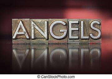 anges, letterpress