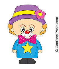 angezogene , clown, kind