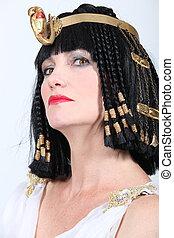angezogene , kleopatra, frau