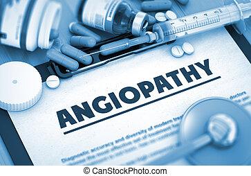 angiopathy., medizin, concept.