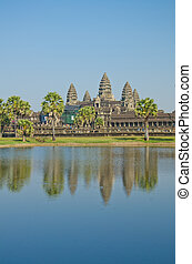 angkor, récolter, siem, temple, wat, cambodia.