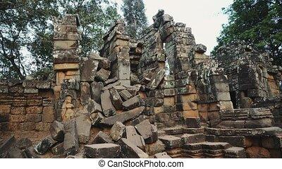 angkor, ruines, temple, abandon, wat, -, 4k