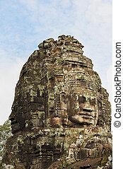 angkor, temple, wat, figure, bayon, cambodge, géant