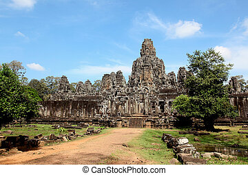 the Angkor Thom Temple in Siem Reap, Cambodia