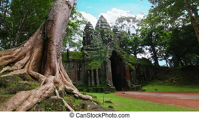 Angkor Thom temple time lapse loop