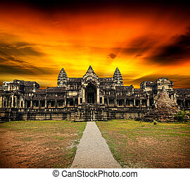 Angkor Wat at sunset.