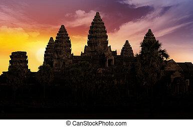 Angkor wat backlit