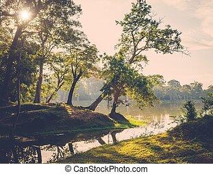 Angkor Wat backyard, Siem Reap, Cambodia
