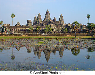 Angkor Wat, Cambodia - Angkor Temple, Siem Reap, Cambodia...