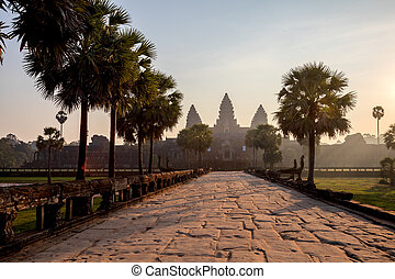 Angkor wat in the morning