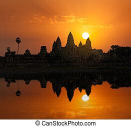 Angkor Wat on sunrise