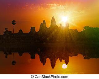 Angkor Wat on sunset